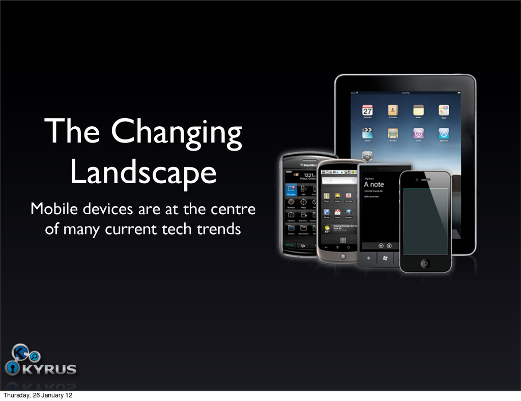 The Changing Landscape Mobile devices are at th...