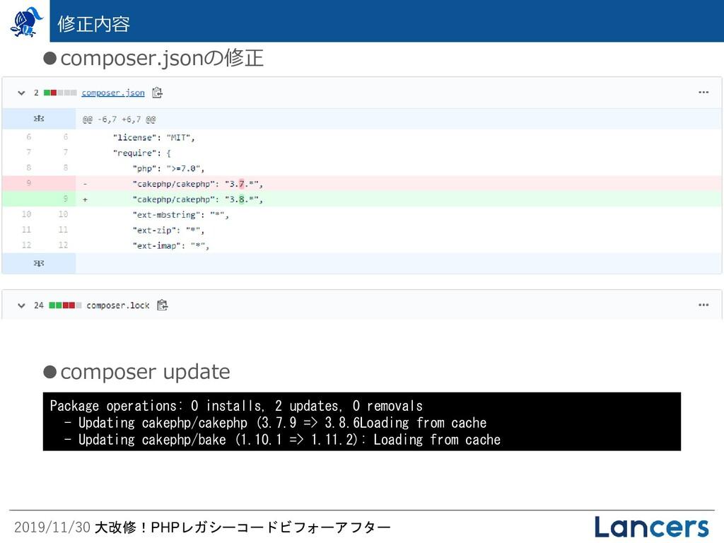 2019/11/30 大改修!PHPレガシーコードビフォーアフター 修正内容 ●compose...
