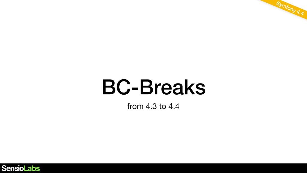 BC-Breaks Symfony 4.4 from 4.3 to 4.4