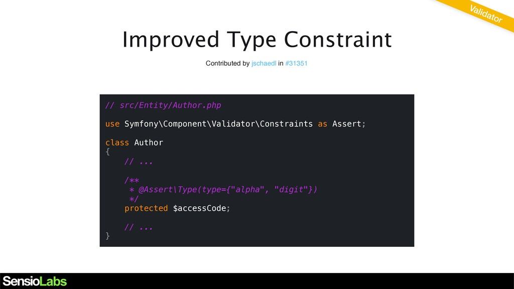 Improved Type Constraint Contributed by jschaed...