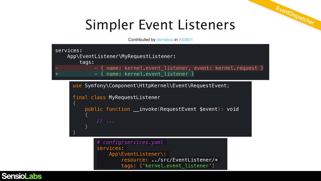 Simpler Event Listeners Contributed by derrabus...
