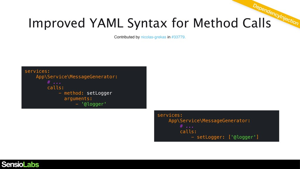 Improved YAML Syntax for Method Calls Contribut...