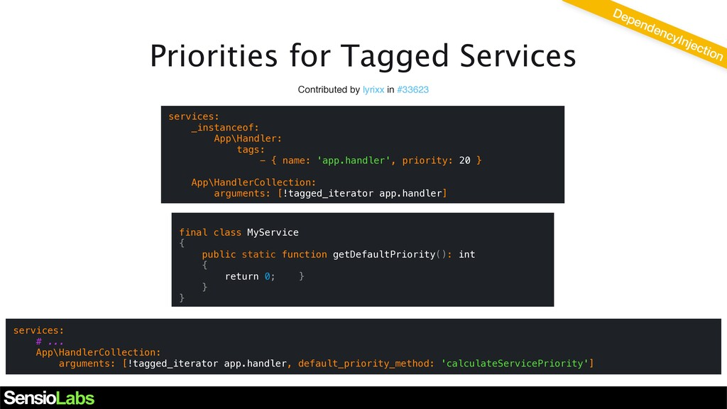 Priorities for Tagged Services Contributed by l...