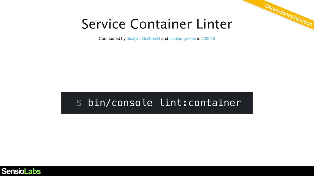 Service Container Linter DependencyInjection Co...