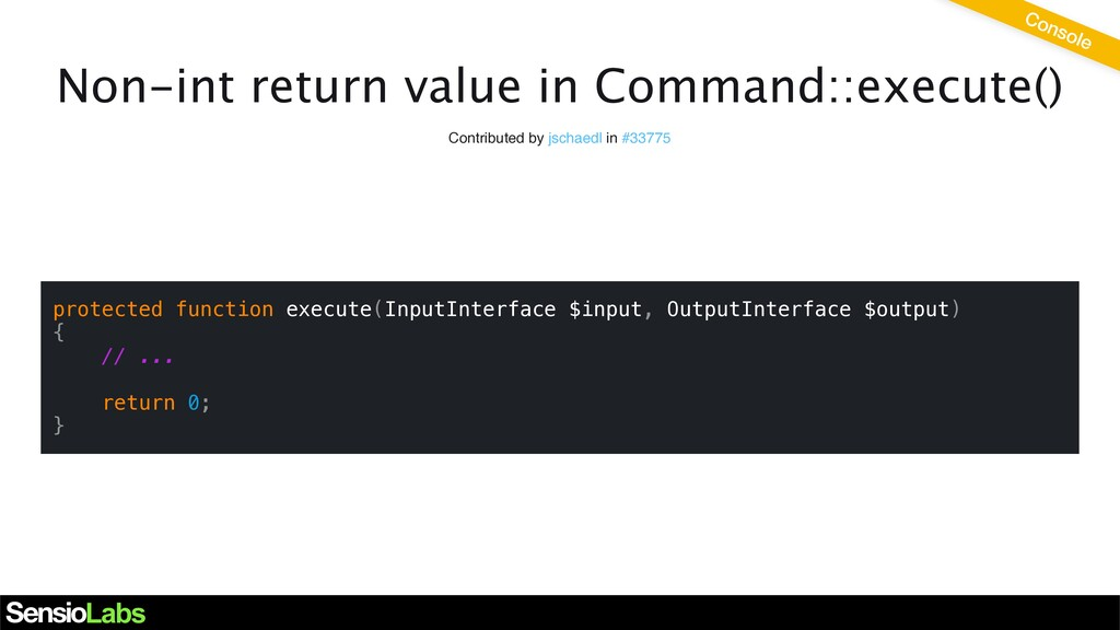 Non-int return value in Command::execute() Cont...