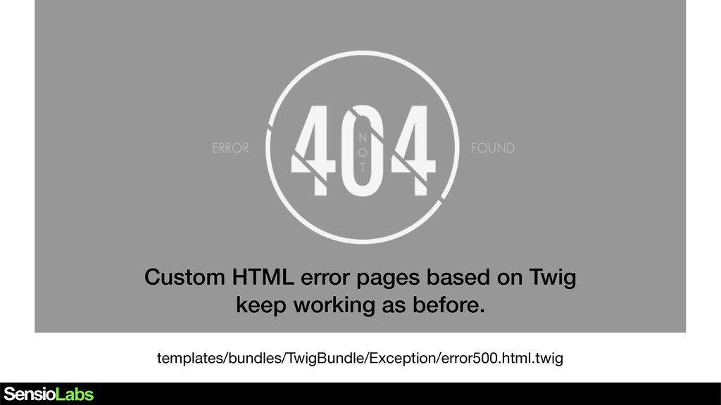 Custom HTML error pages based on Twig keep work...