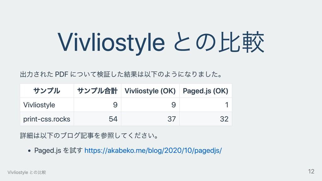 Vivliostyle との⽐較 出⼒された PDF について検証した結果は以下のようになりま...