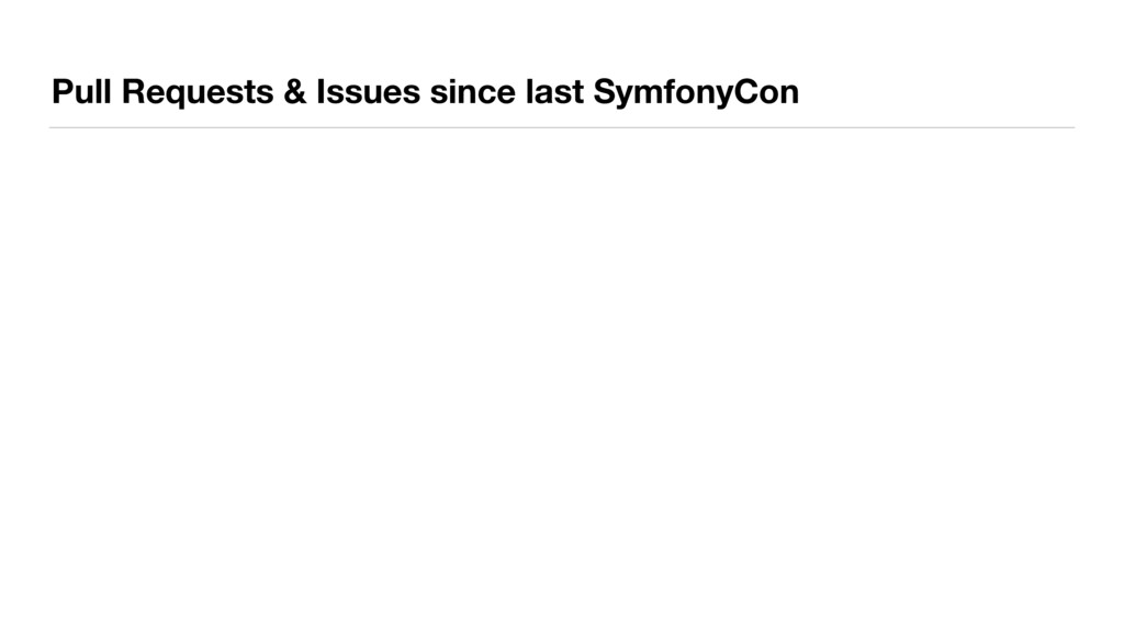 Pull Requests & Issues since last SymfonyCon