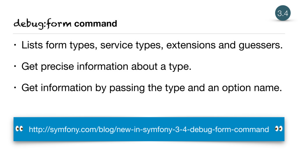debug:form command • Lists form types, service ...