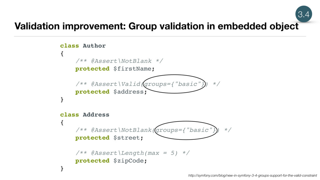 Validation improvement: Group validation in emb...