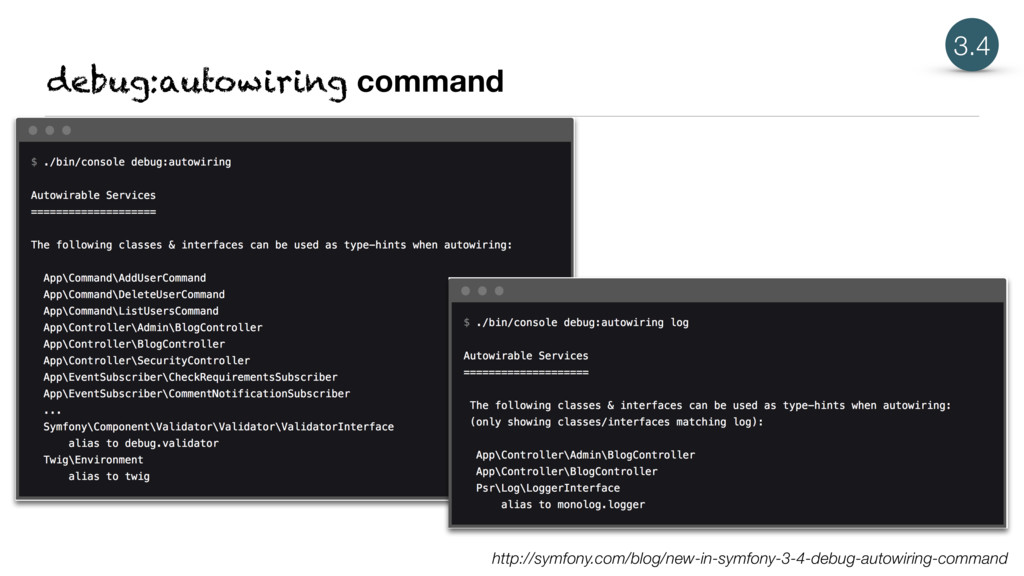 debug:autowiring command 3.4 http://symfony.com...