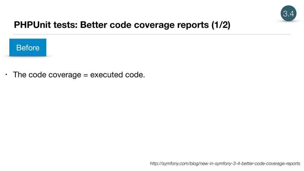 PHPUnit tests: Better code coverage reports (1/...