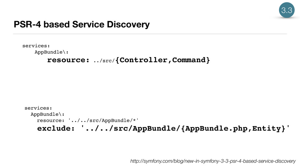 PSR-4 based Service Discovery services: AppBund...