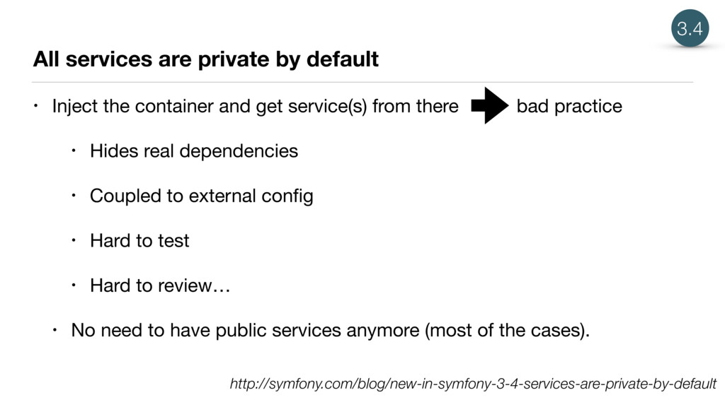 All services are private by default • Inject th...