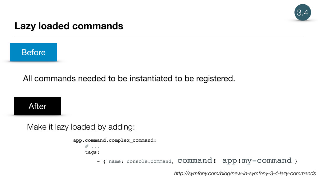 Lazy loaded commands All commands needed to be ...