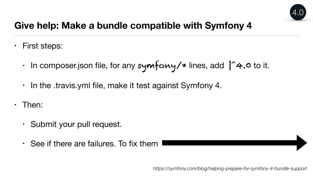 Give help: Make a bundle compatible with Symfon...
