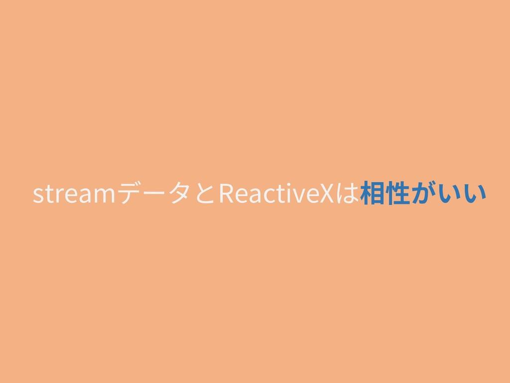 streamデータとReactiveXは相性がいい