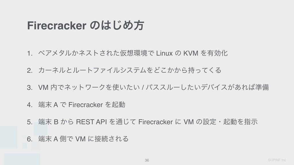 SUPINF Inc Firecracker ͷ͡Ίํ 36 1. ϕΞϝλϧ͔ωετ͞Εͨ...