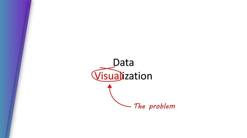 Data Visualization Data Visualization The probl...