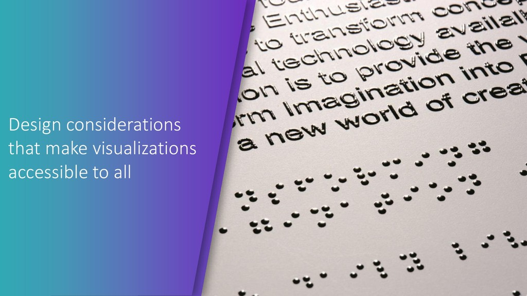 Design considerations that make visualizations ...