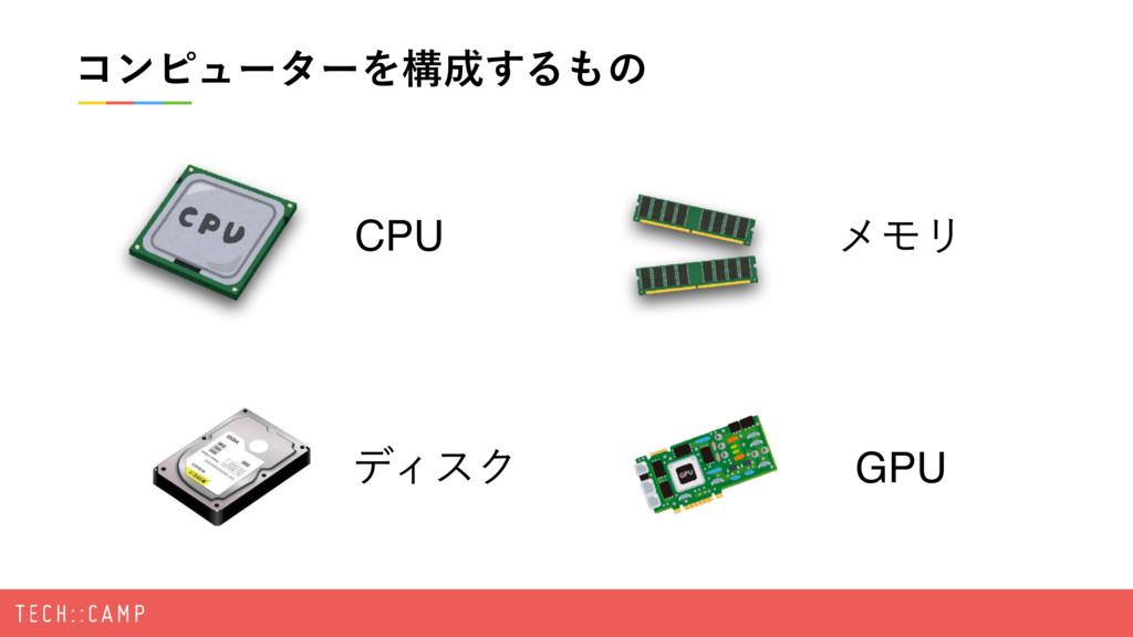 ίϯϐϡʔλʔΛߏ͢Δͷ CPU σΟεΫ ϝϞϦ GPU