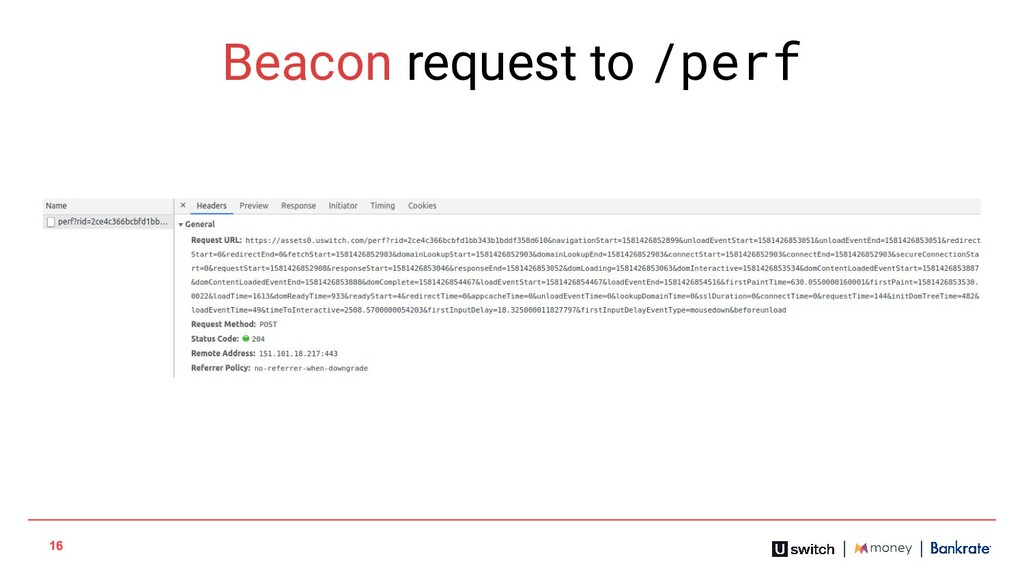 16 Beacon request to /perf