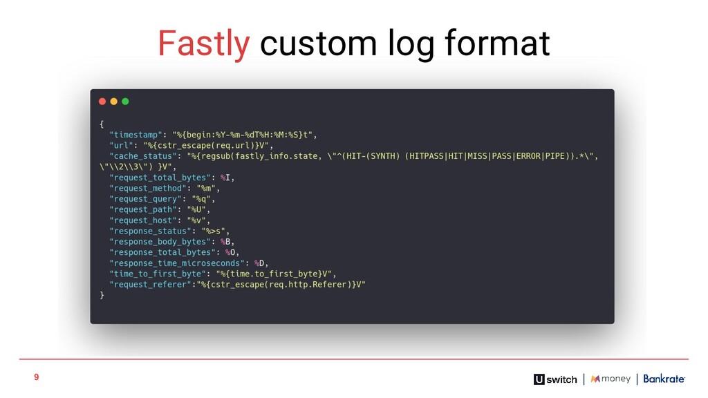 9 Fastly custom log format