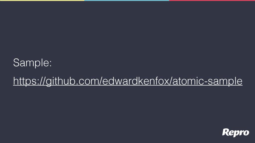 Sample: https://github.com/edwardkenfox/atomic-...