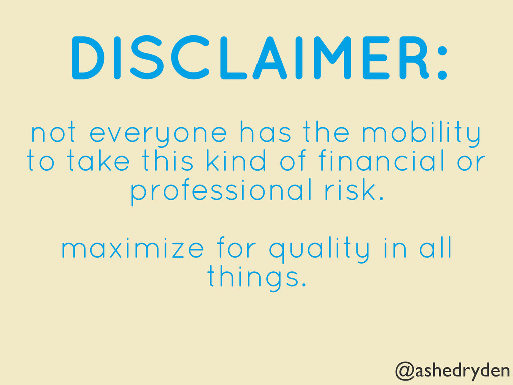@ashedryden DISCLAIMER: not everyone has the mo...