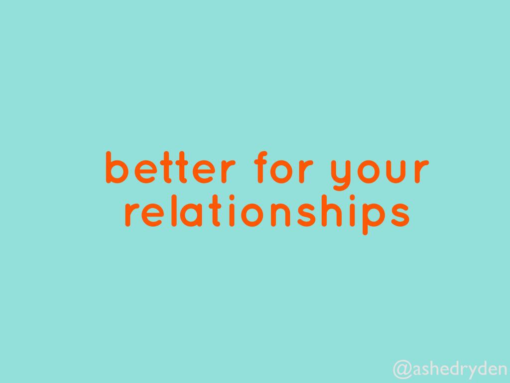 @ashedryden better for your relationships