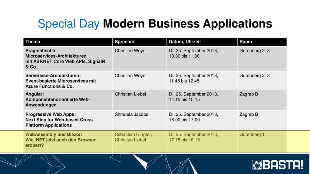 Special Day Modern Business Applications Thema ...