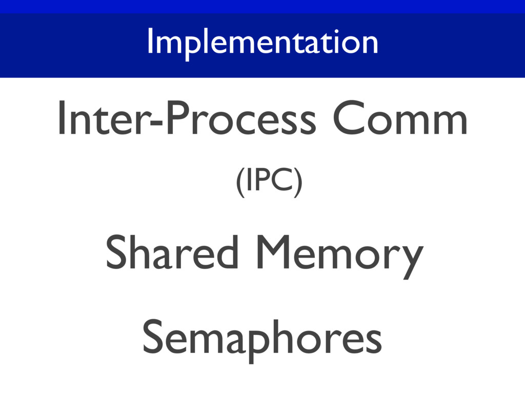 Implementation Inter-Process Comm (IPC) Shared ...