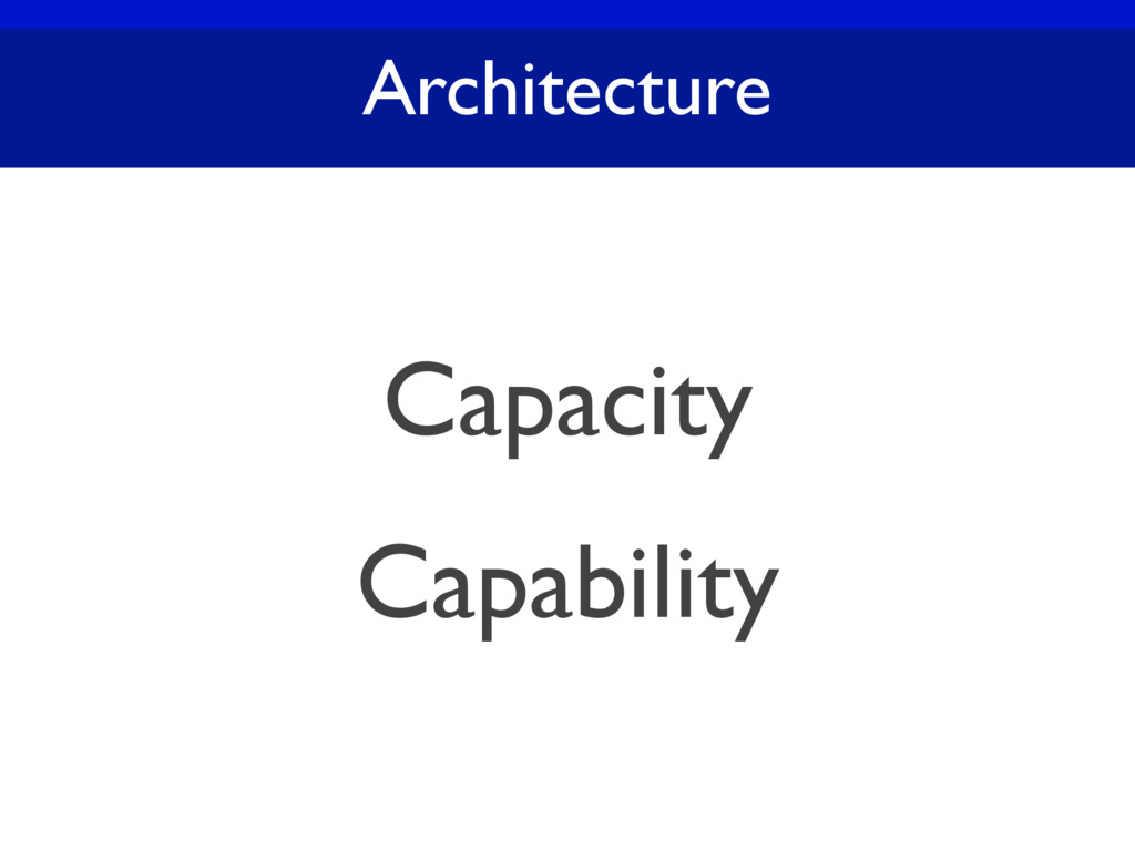 Architecture Capacity Capability