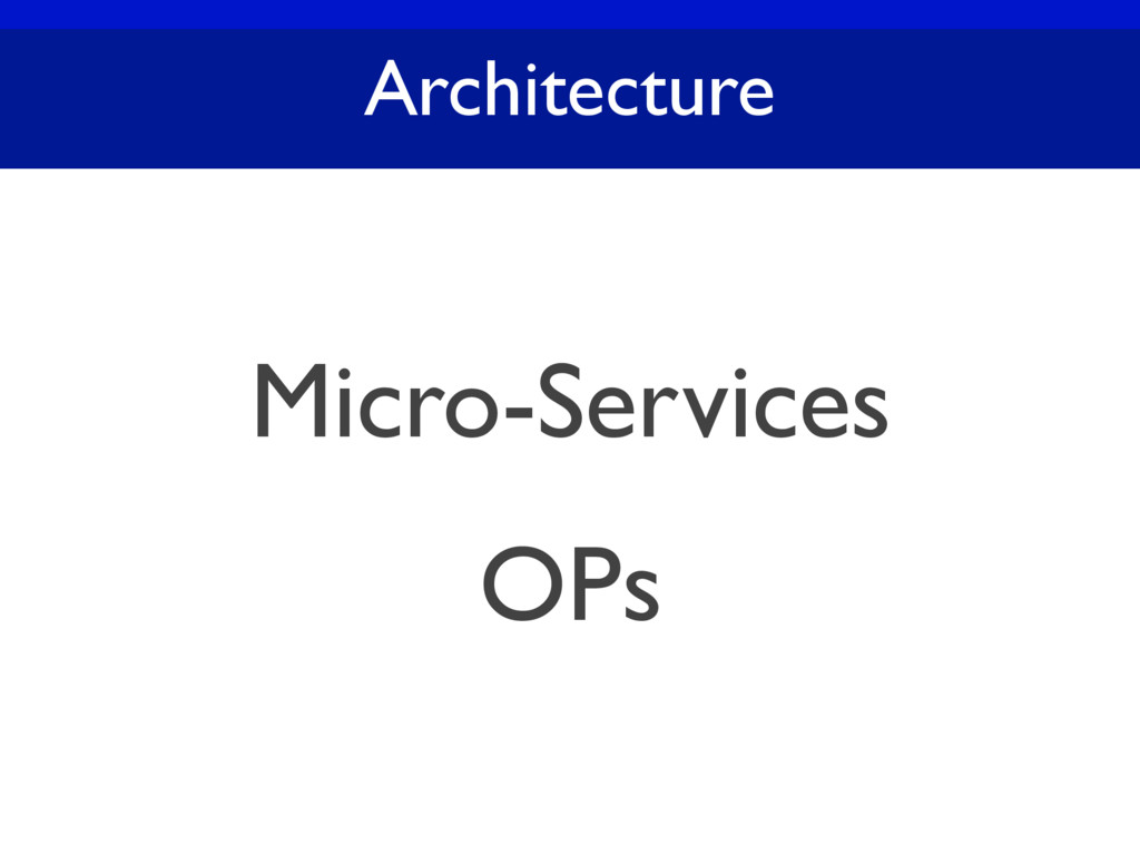 Architecture Micro-Services OPs