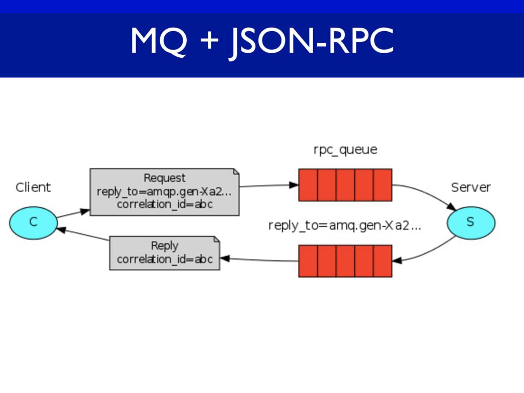 MQ + JSON-RPC