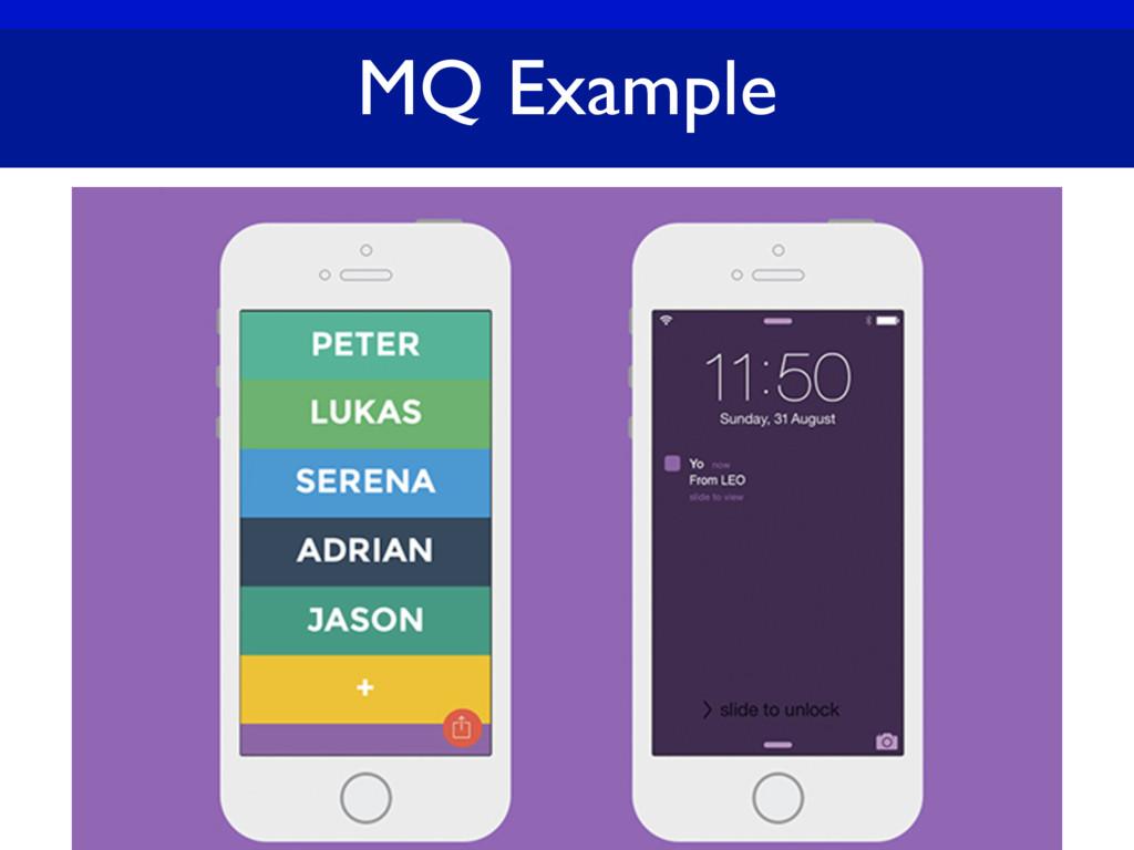 MQ Example