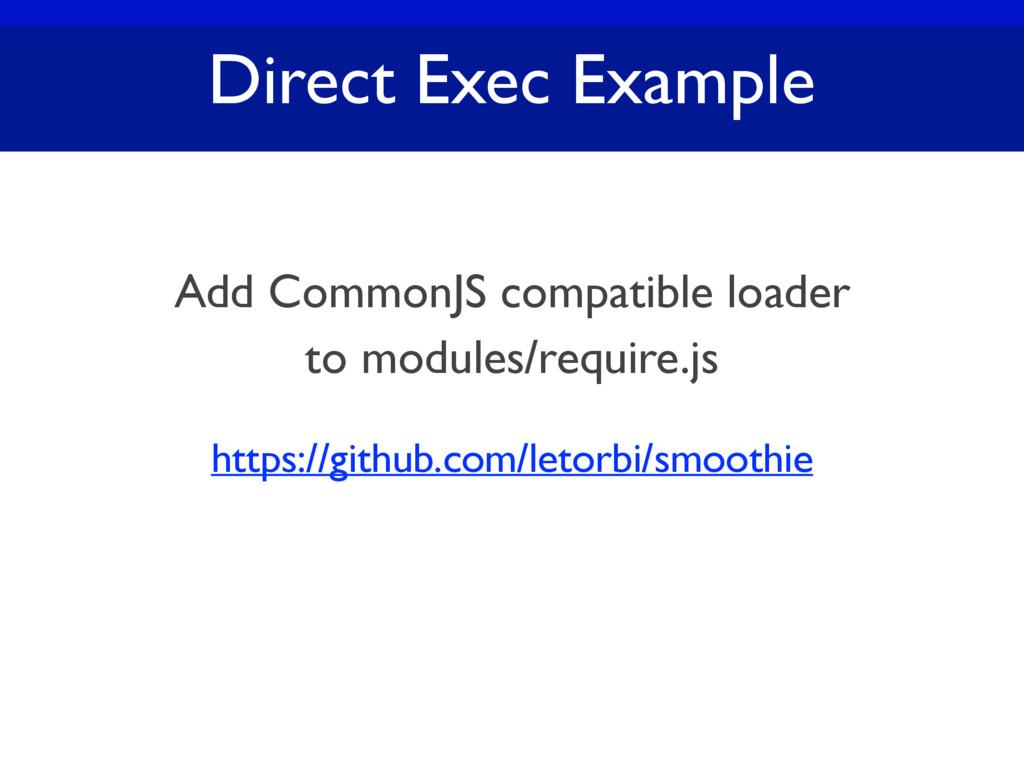 Direct Exec Example https://github.com/letorbi/...