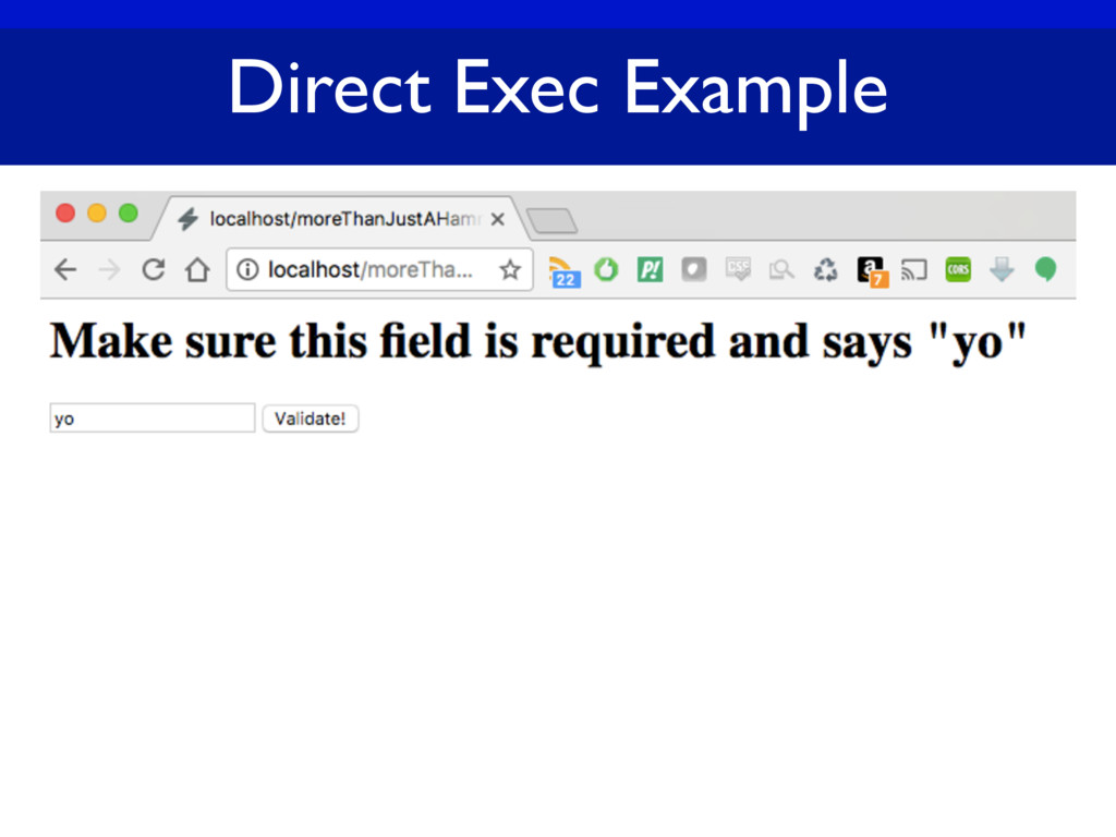 Direct Exec Example