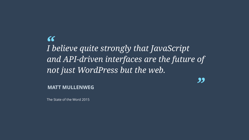 """"""" """" MATT MULLENWEG I believe quite strongly tha..."""
