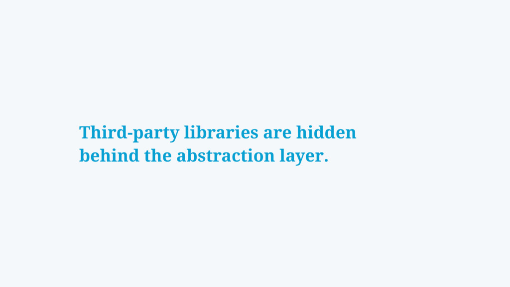 Third-party libraries are hidden behind the abs...
