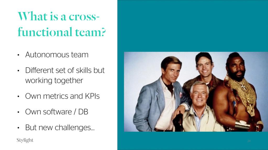 What is a cross- functional team? • Autonomous ...