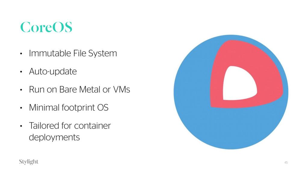CoreOS • Immutable File System • Auto-update • ...