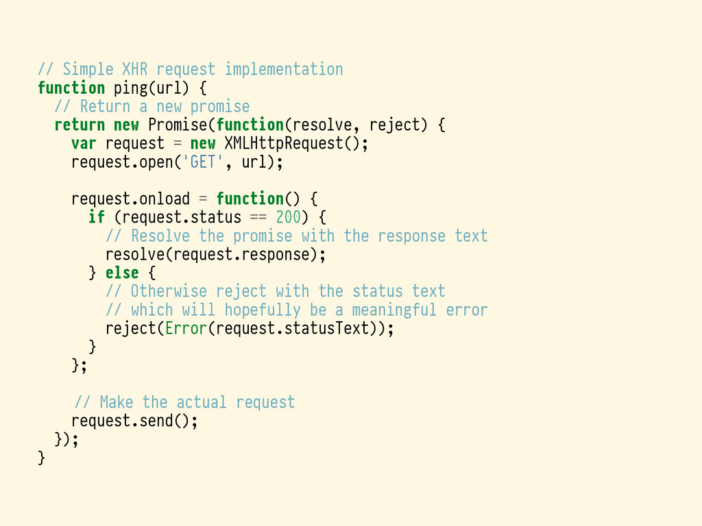 // Simple XHR request implementation function p...