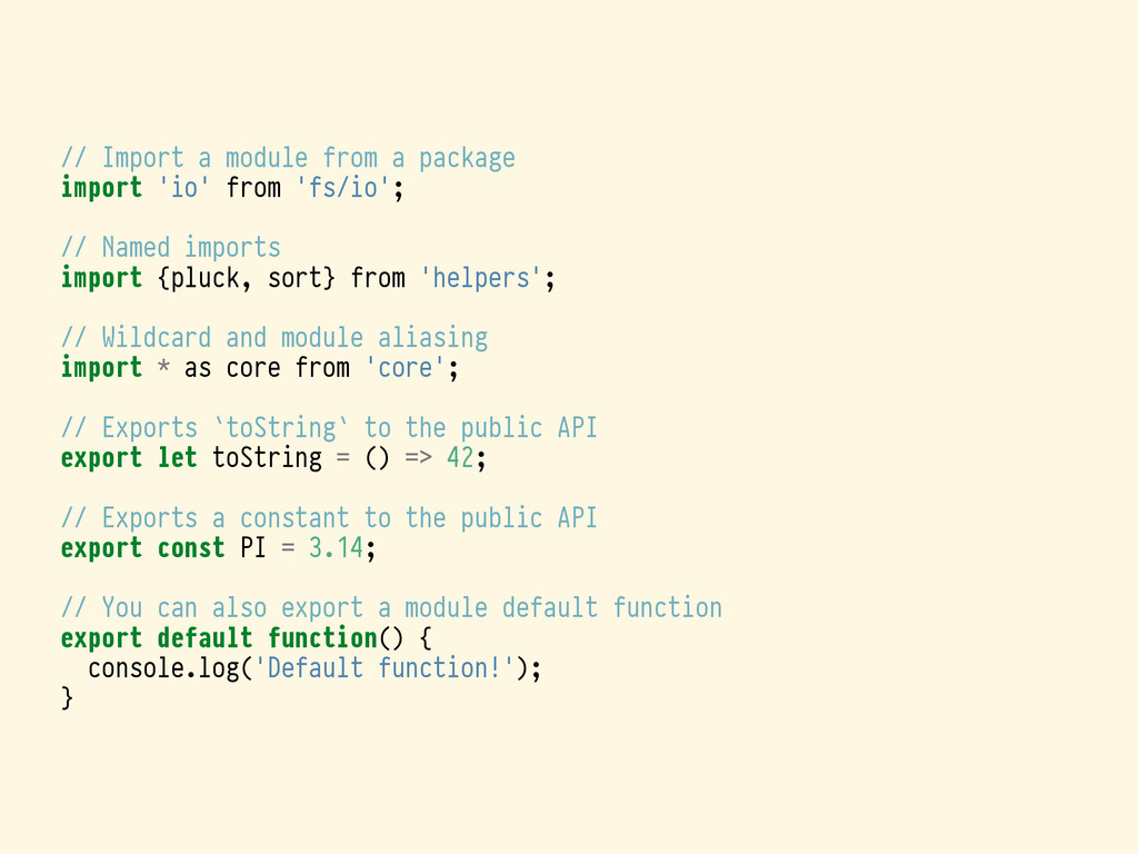 // Import a module from a package import 'io' f...