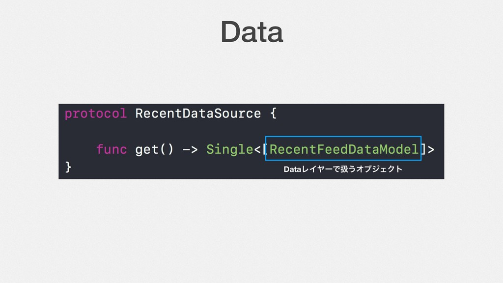 Data DataϨΠϠʔͰѻ͏ΦϒδΣΫτ