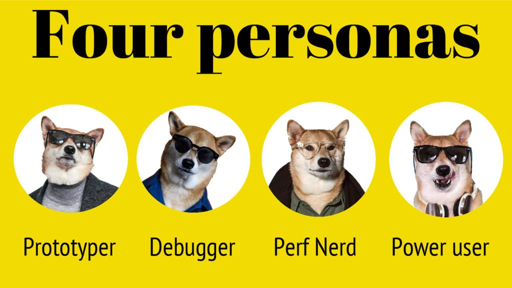 Prototyper Four personas Debugger Perf Nerd Pow...