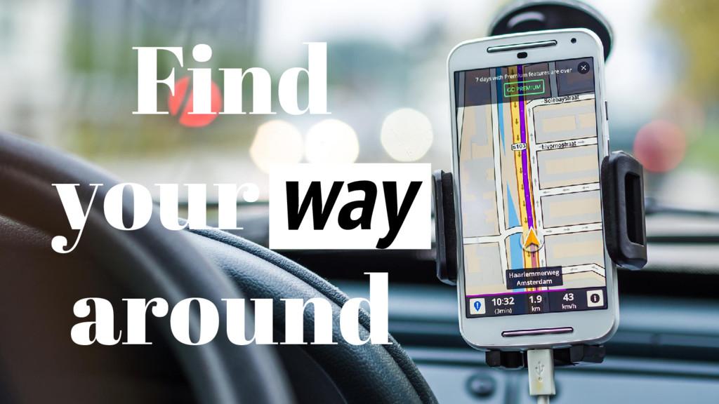 Find your way around