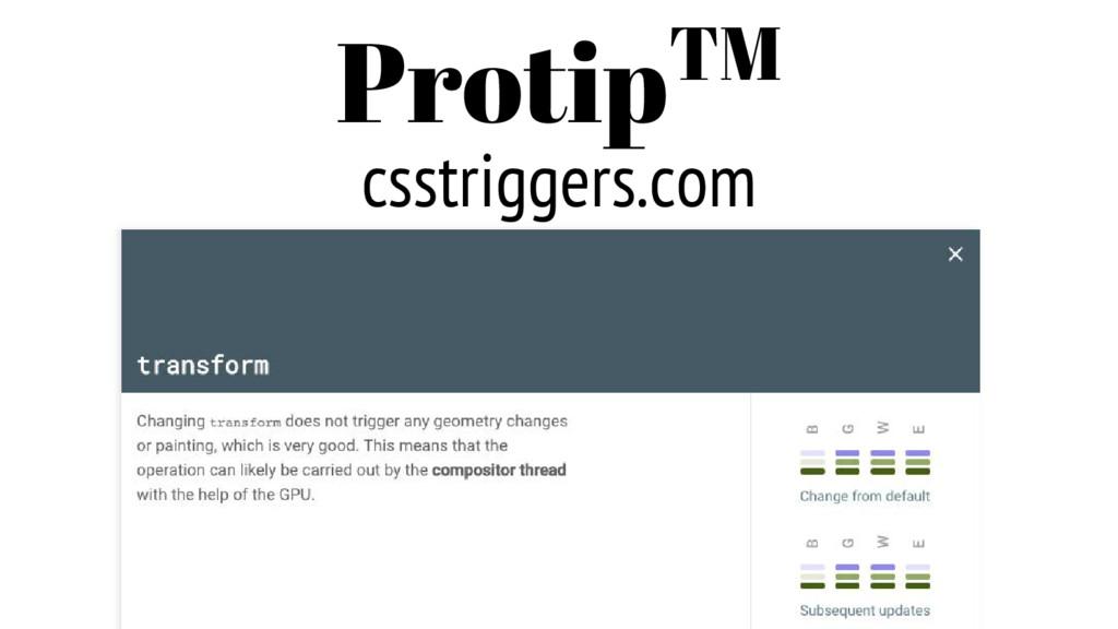 csstriggers.com ProtipTM