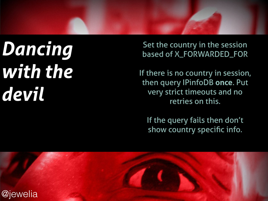 Dancing with the devil ! Set the country in the...