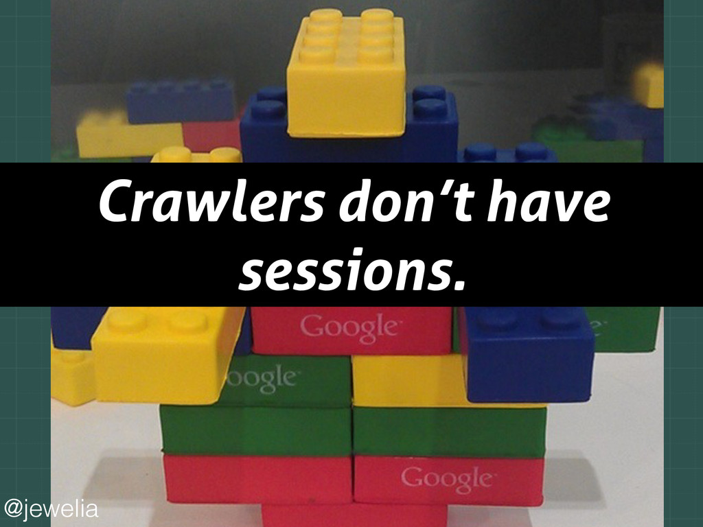 Crawlers don't have sessions. @jewelia